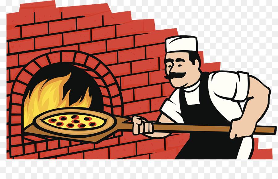 Pizza Italian Cuisine Wood Fired Oven Masonry Clip Art