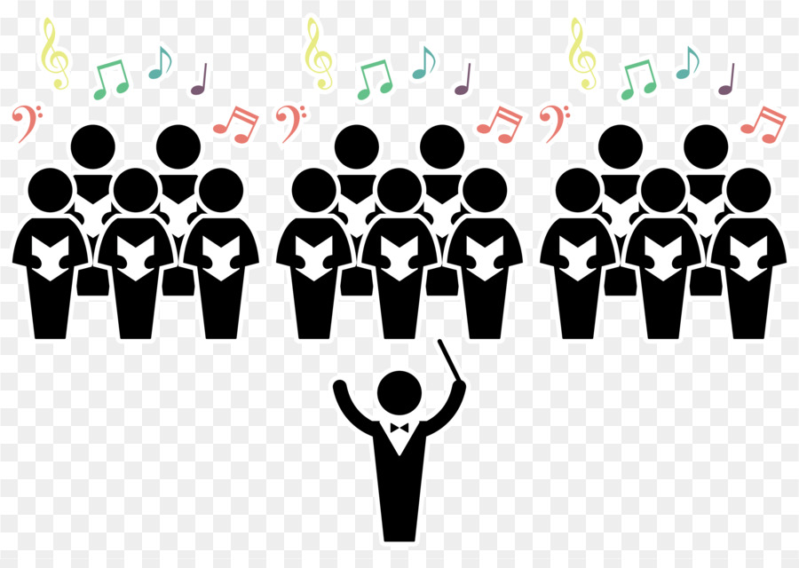 Choir Conductor Silhouette - Vector illustration singing ...