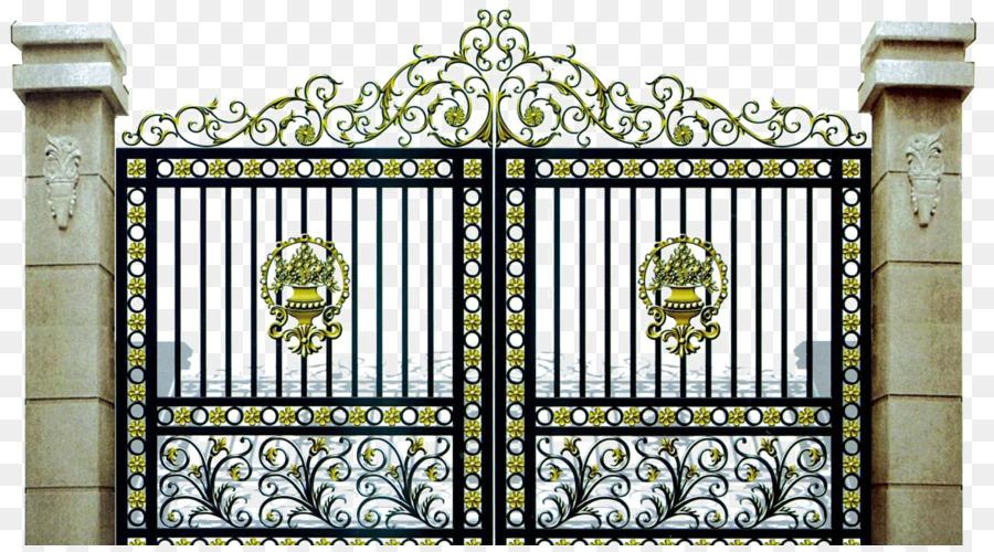 Gate Wrought Iron Fence Driveway