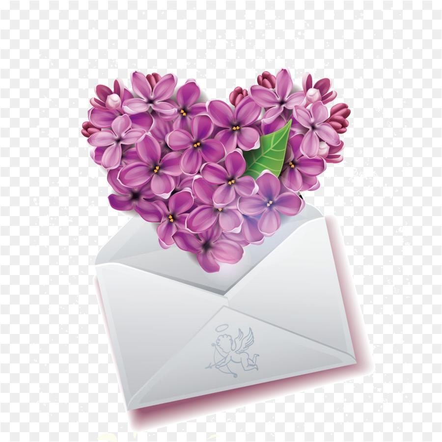 Emoticon Heart Smiley Emoji Clip art - Romantic lilac envelope ...