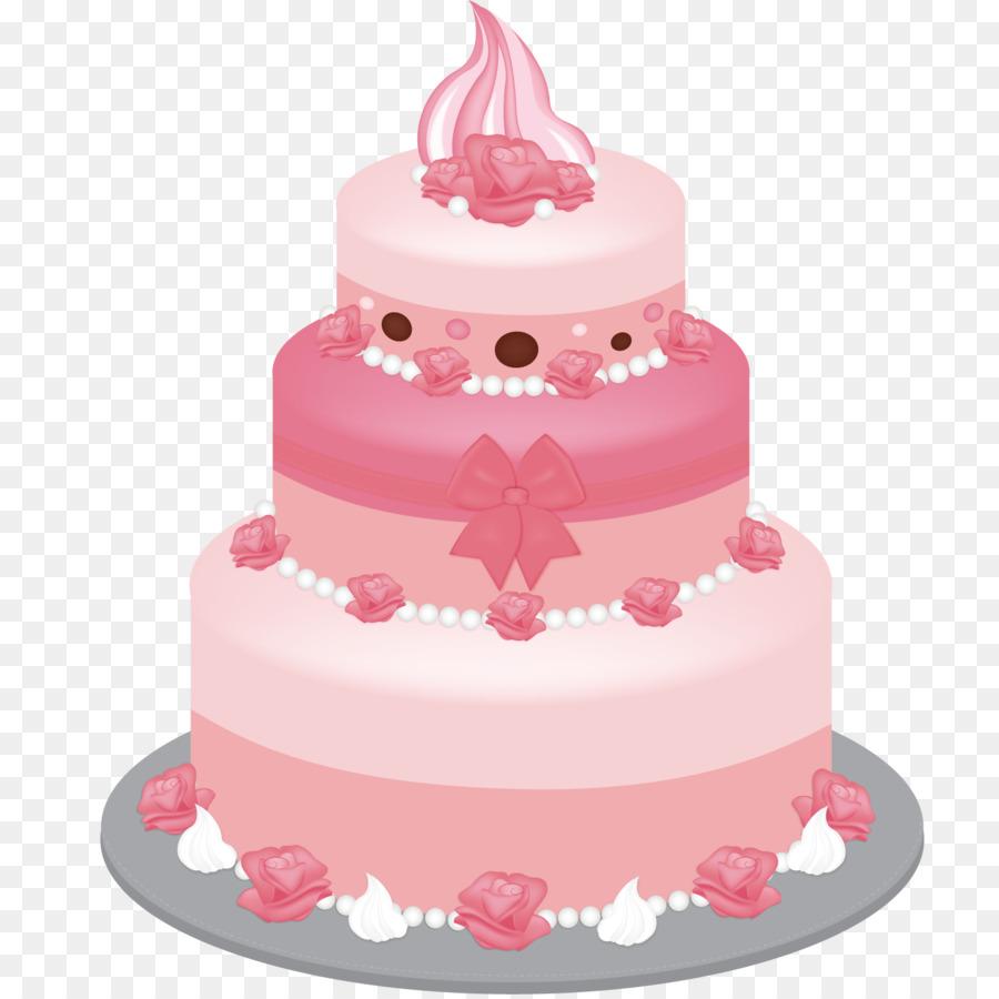 Birthday cake Icing Layer cake Wedding cake - Pink cake png download ...