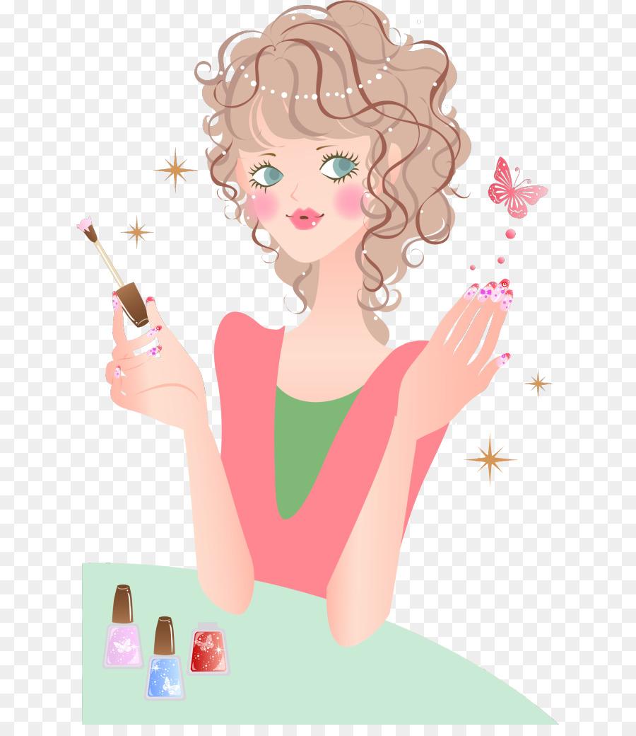 Nail art Nail technician Nail salon Illustration - Beauty nail ...