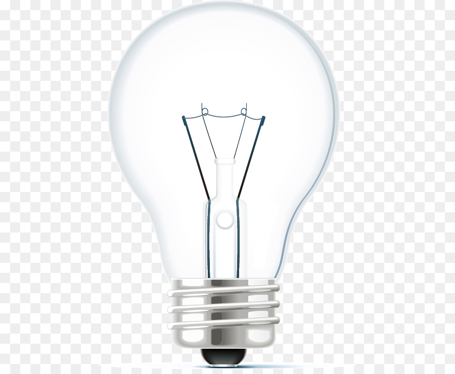 Incandescent Light Bulb Glass Tungsten Lamp   Vector Bulb Pattern