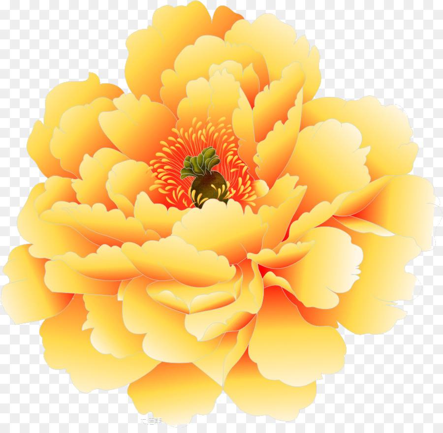 Moutan Peony Yellow Peony Png Download 905875 Free