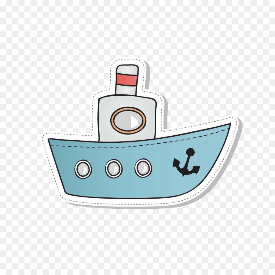 Ferry Cartoon Ship Blue Ship 1000 1000 Transprent Png