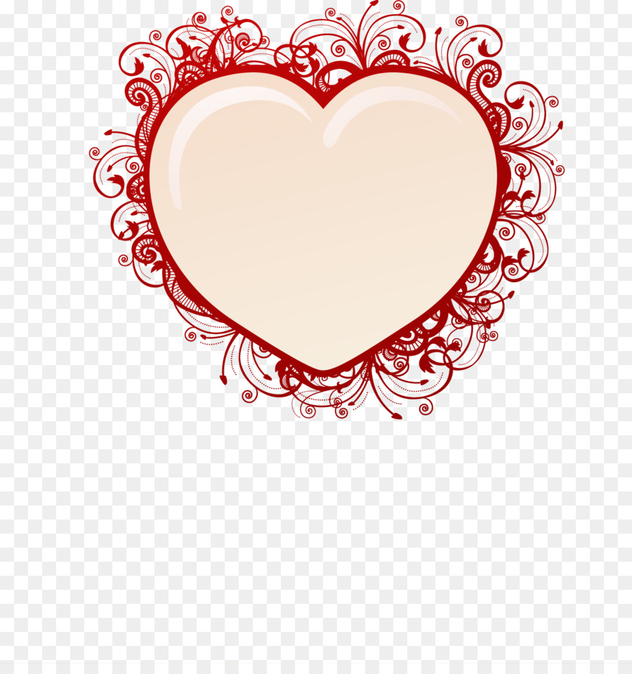 Heart Picture frame Royalty-free Illustration - Red frame heart ...
