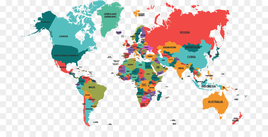 globe world map color world map vector material downloaded png