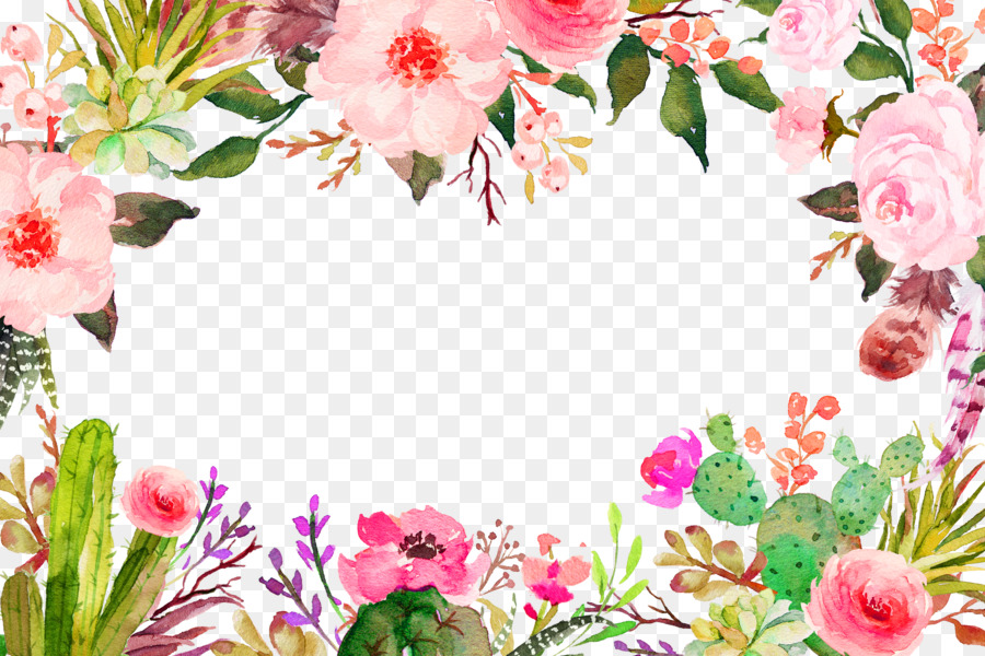 Flower Clip Art Purple Fresh Flowers Border Texture 3000