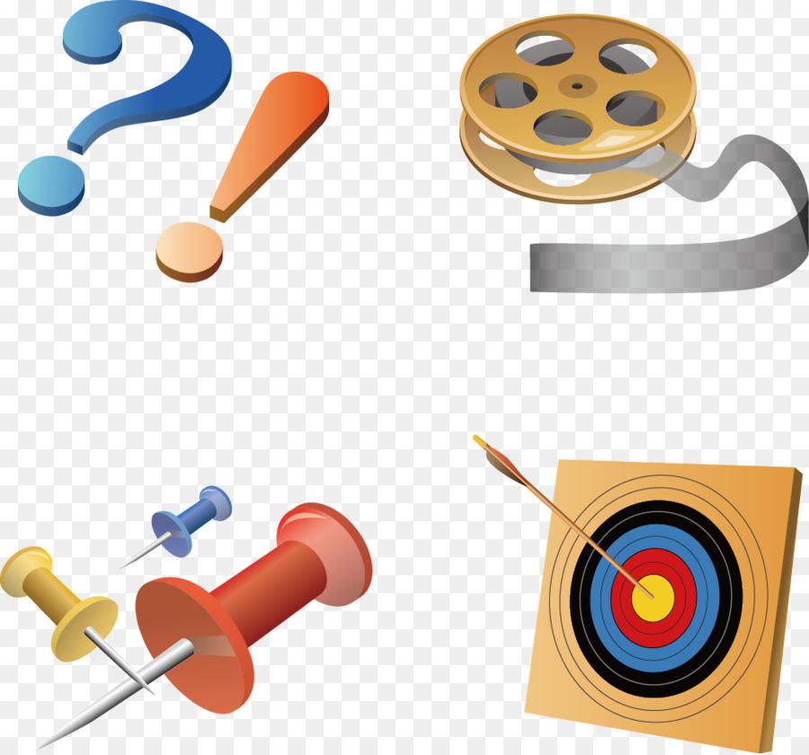 Clip art - Vector Film nails target material png download