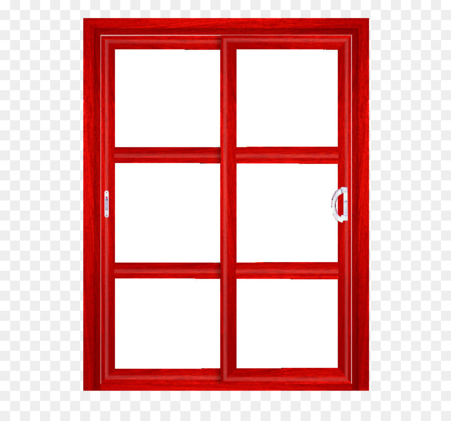 Window Picture frame Red Glass - Doors and windows red frame png ...