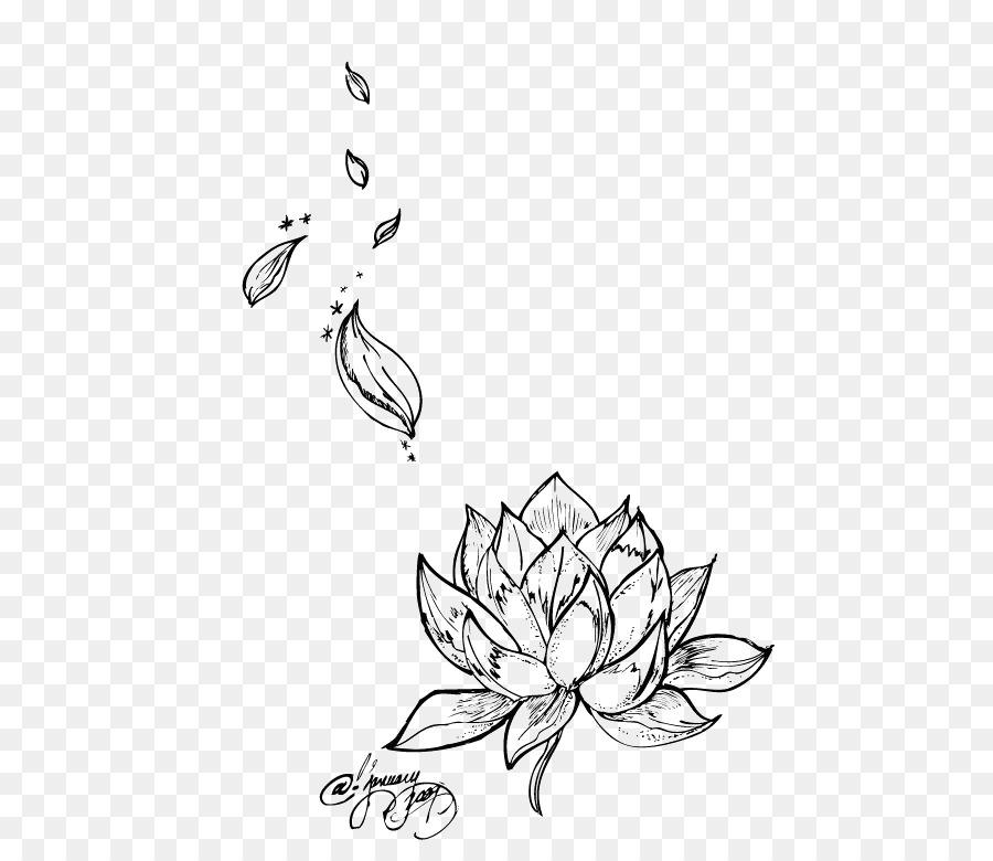 efb8beccf Egyptian lotus Nelumbo nucifera Tattoo Flower Drawing - lotus png ...