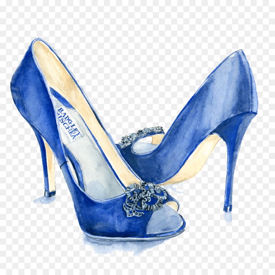Slipper Lackiert Zeichnung Blau Schuhe Schuh Hochhackige Abbildung LzUpGVqSM