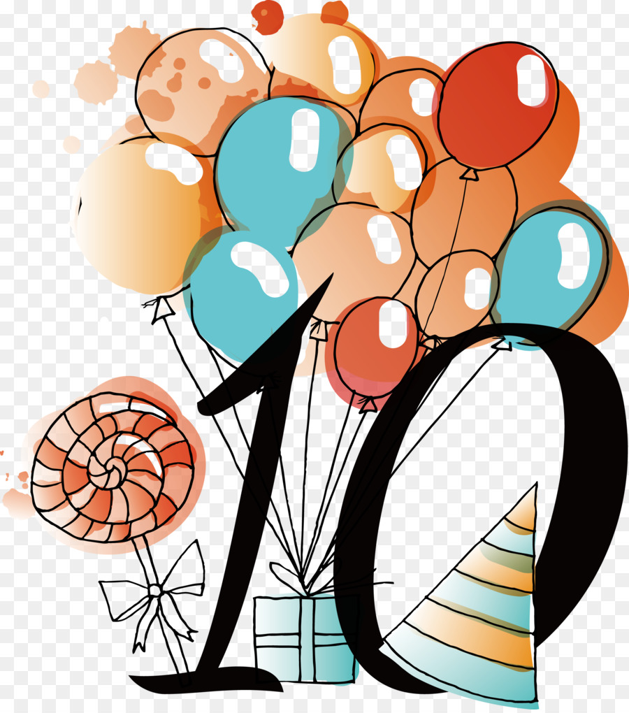 birthday clip art - happy birthday to celebrate the 10th anniversary