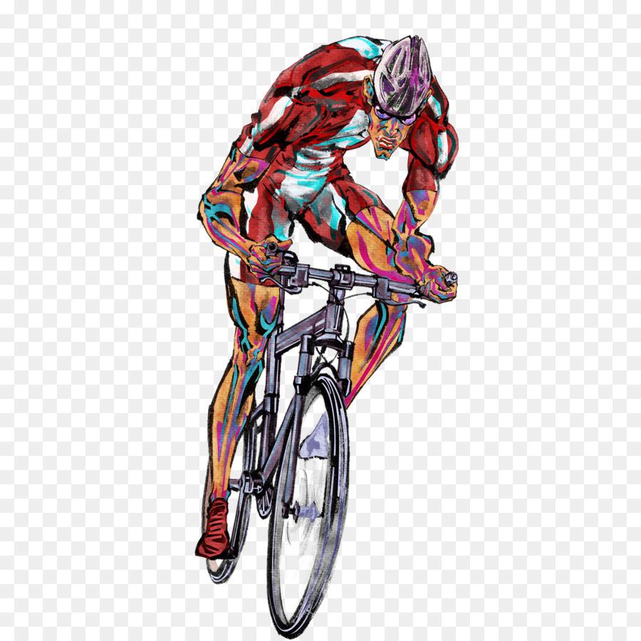 Mountain Bike Fahrrad Radfahren Cartoon Comics Cartoon Reiten