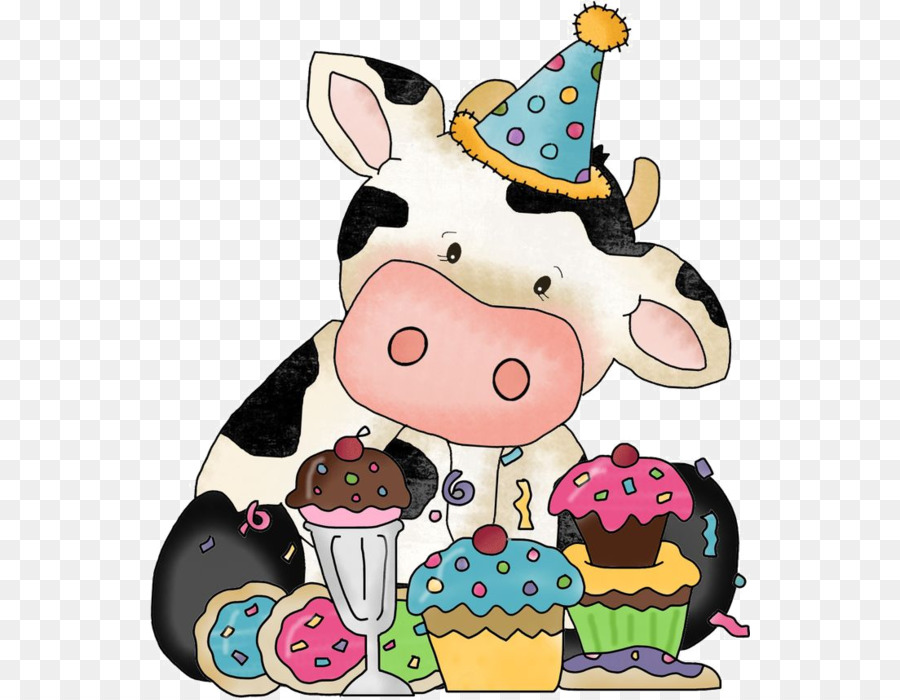 Birthday Wish Greeting Card Happiness Gift Cute Cow Png Download