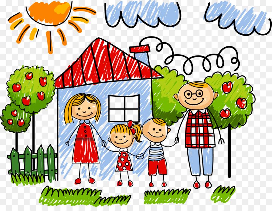 Ilustración De Dibujos Animados De Dibujos Animados De La Familia