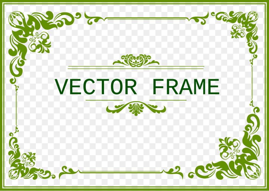 Plantilla Verde CorelDRAW - marco verde Formatos De Archivo De ...