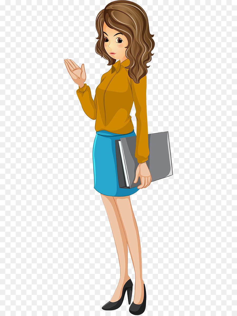 Teacher School Clip art - Cartoon teacher png download ... (900 x 1200 Pixel)