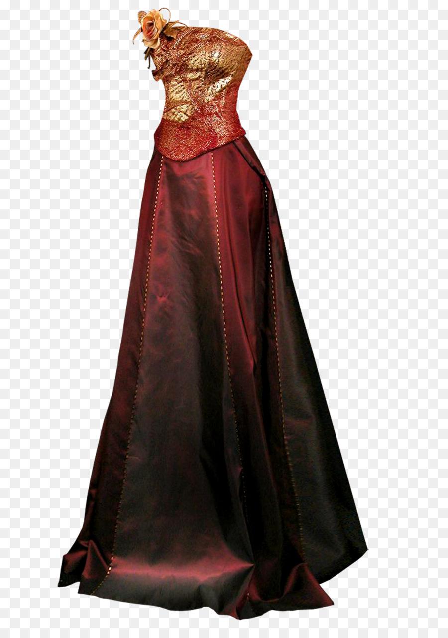 Gown Wedding dress Formal wear - Dark red evening dress png download ...