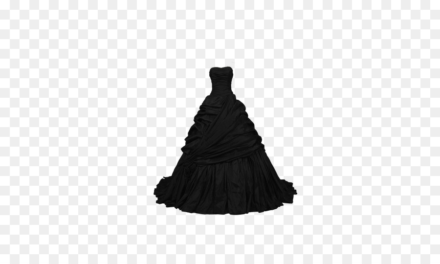 Dress Ball gown Evening gown Polyvore - Atmospheric black dress Bra ...