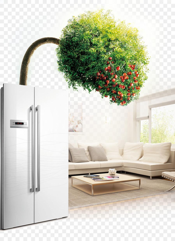Wohnzimmer-Kühlschrank-Haus - Kreative Werbe-Kühlschrank png ...
