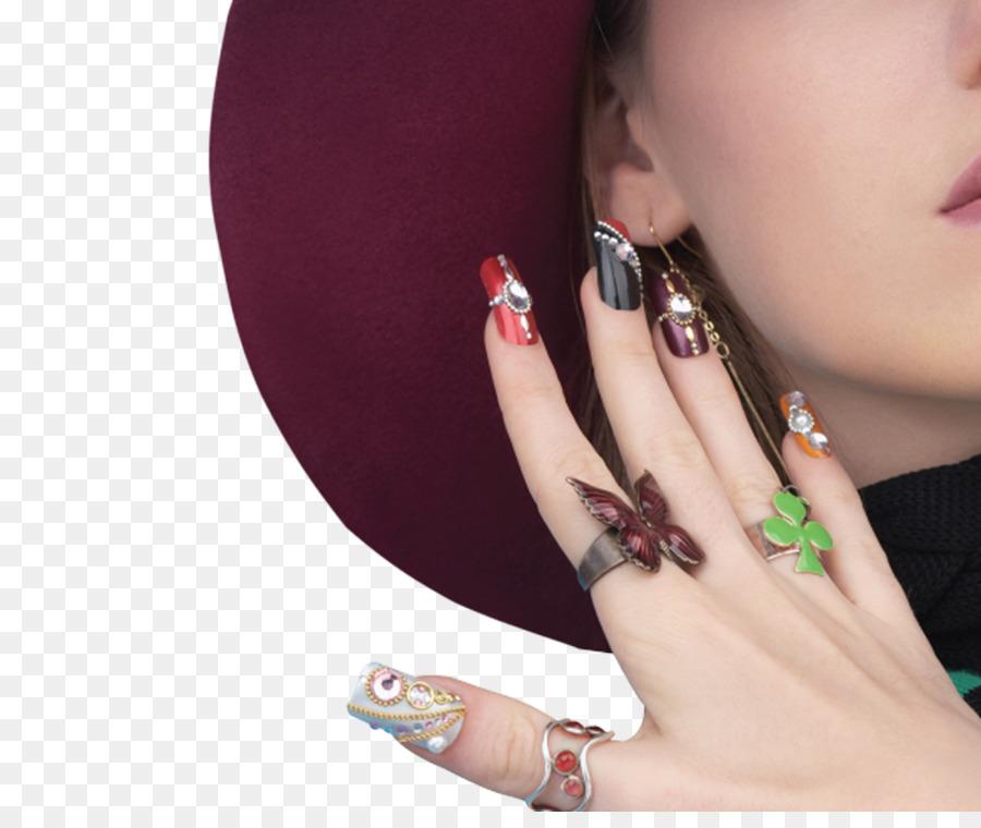 Advertising Poster Nail Art Creative Nail Fig Png Download 1000