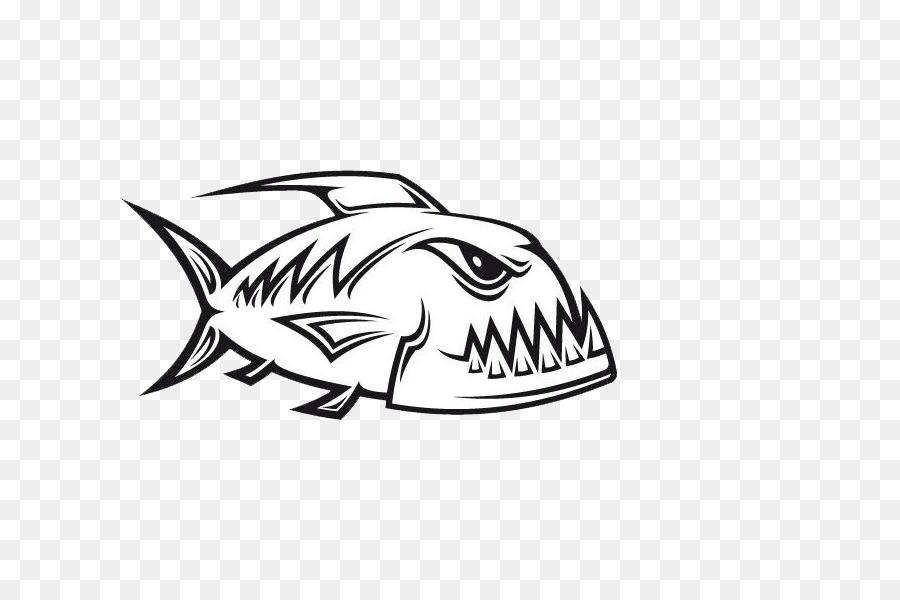 Piraña Royalty-free Clip art - tiburón png dibujo - Transparente png ...