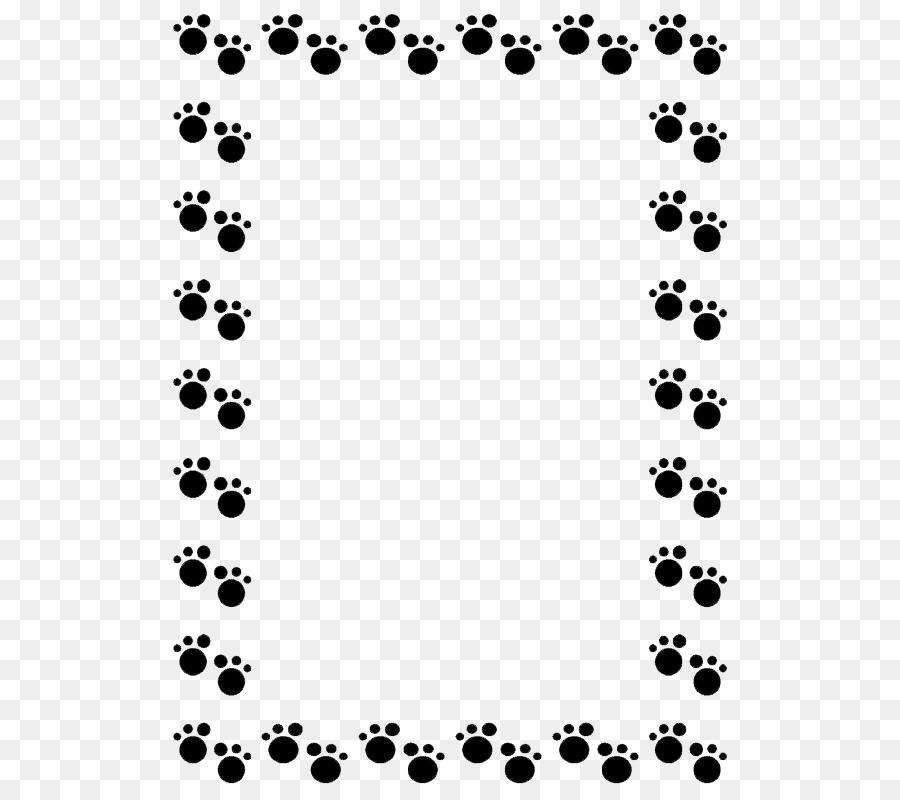 Pug Dachshund Cat Puppy Clip art - Footprints border ...