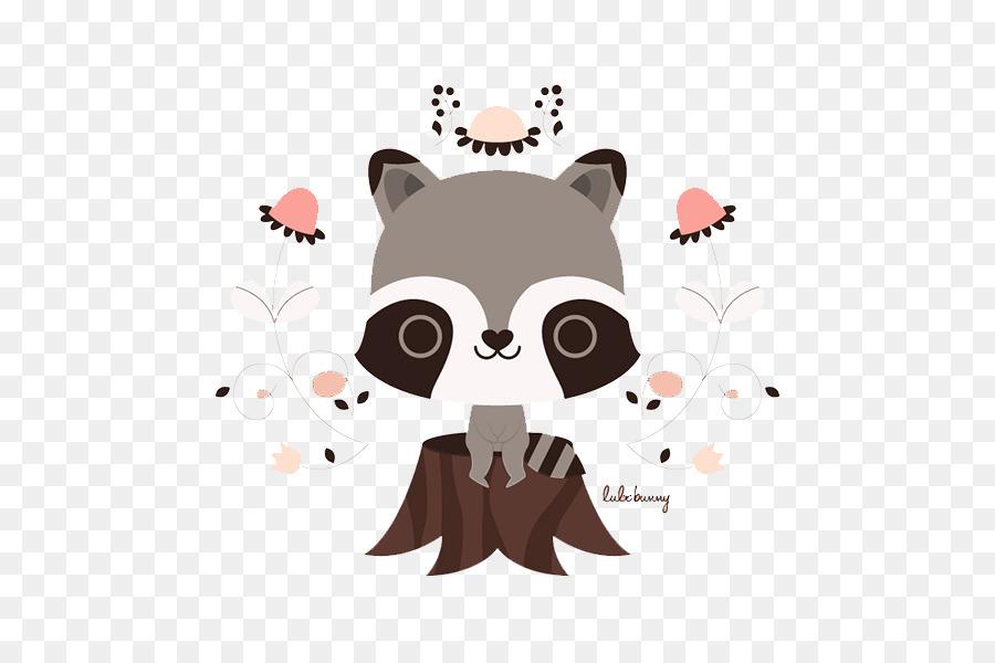 Rakun Köpek çizim Illüstrasyon Sevimli çizgi Koala Kütükleri Png