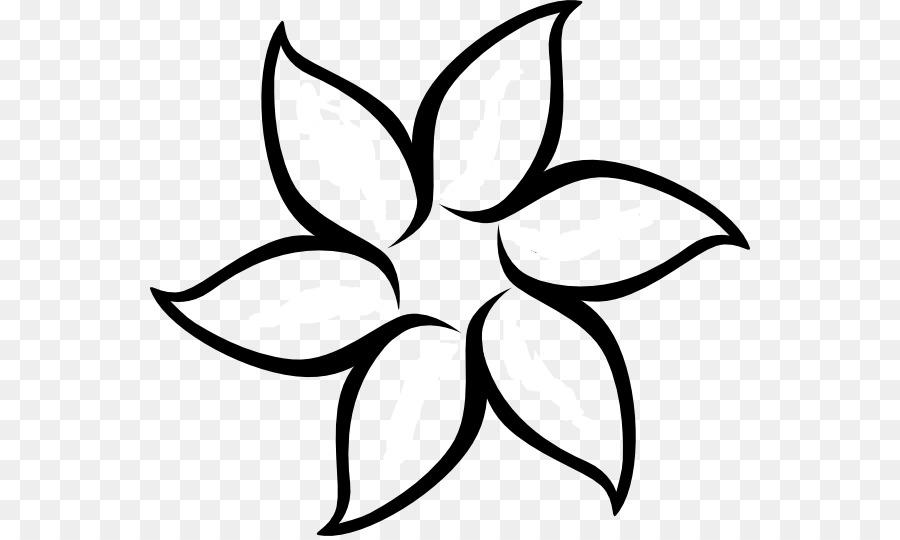 Fleur Dessin Clip Art Noir Et Blanc Fleur Contour Telechargement