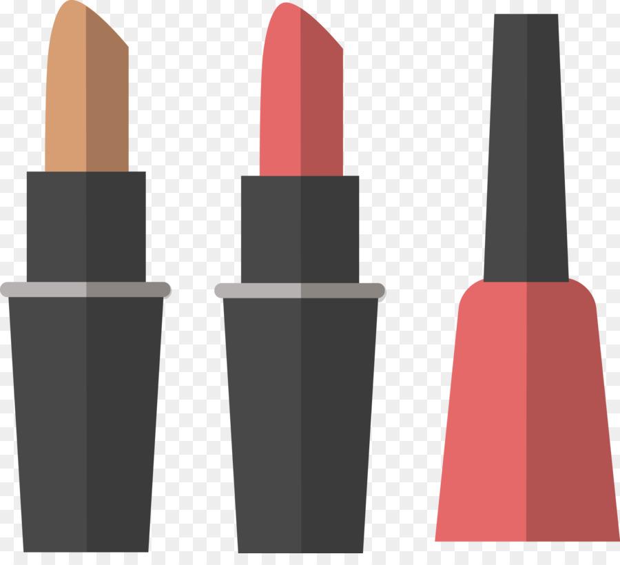 Lipstick Cosmetics Nail polish - Vector cartoon nail polish and ...