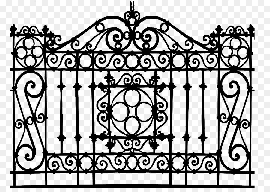 Gate Wrought Iron 3d Computer Graphics Deck Railing