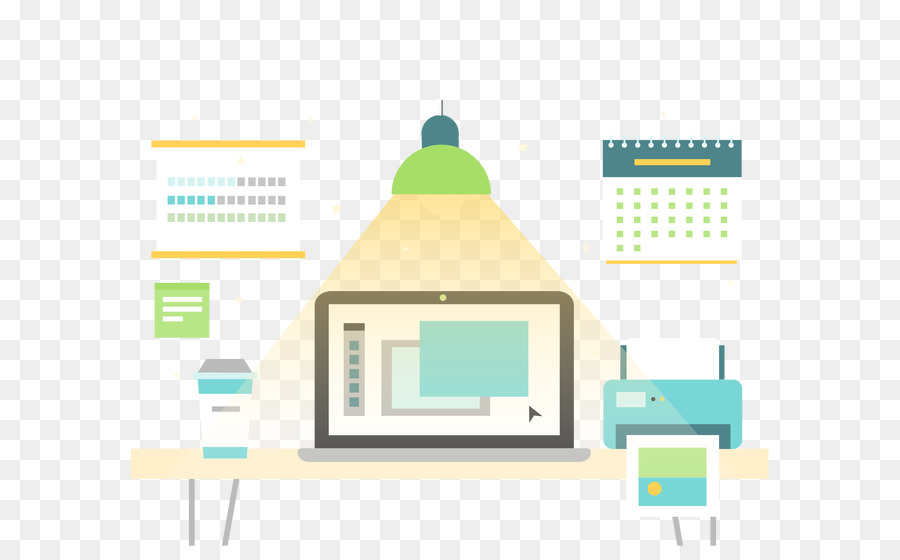 Graphic design Euclidean vector Designer - Vector flat home office ...