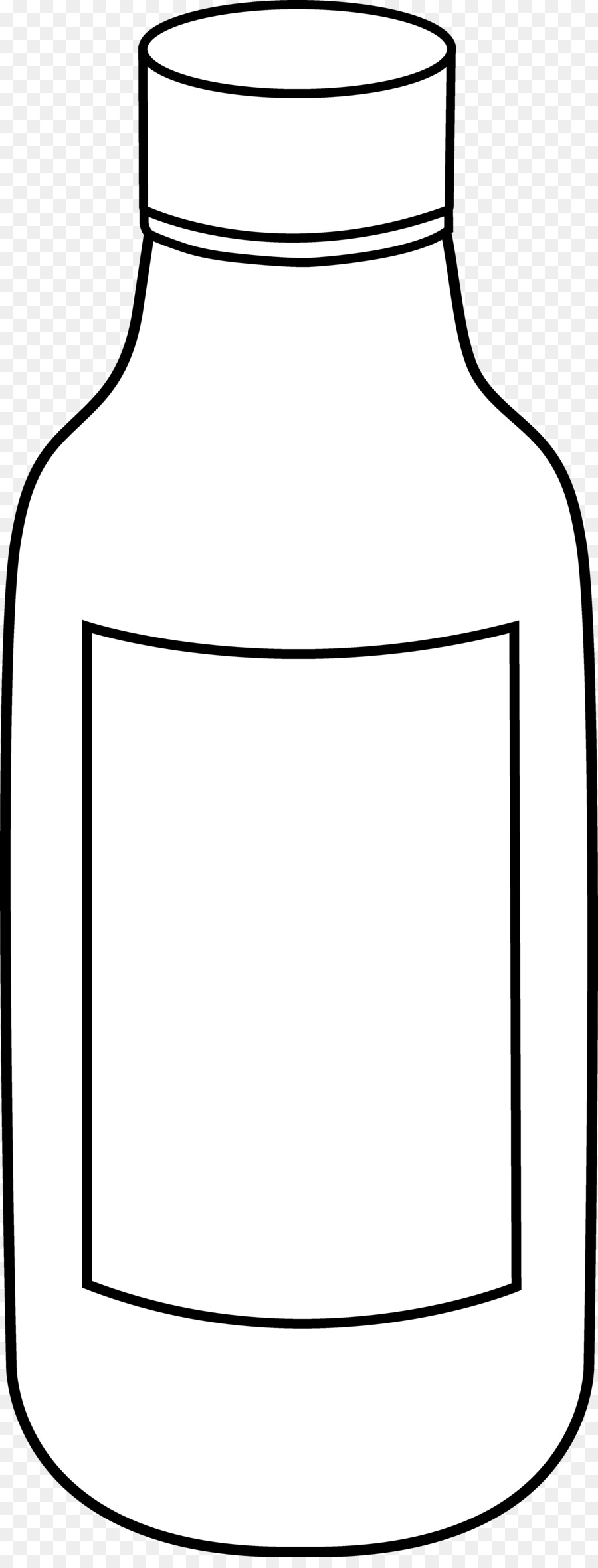 Line Art Bottle Black And White Drawing Clip