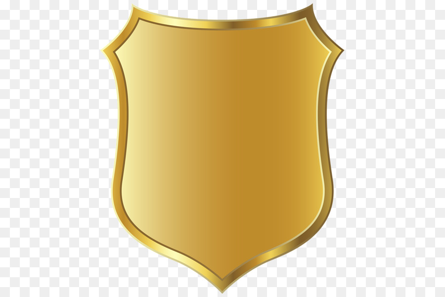 Police badge yellow. Gold png download free