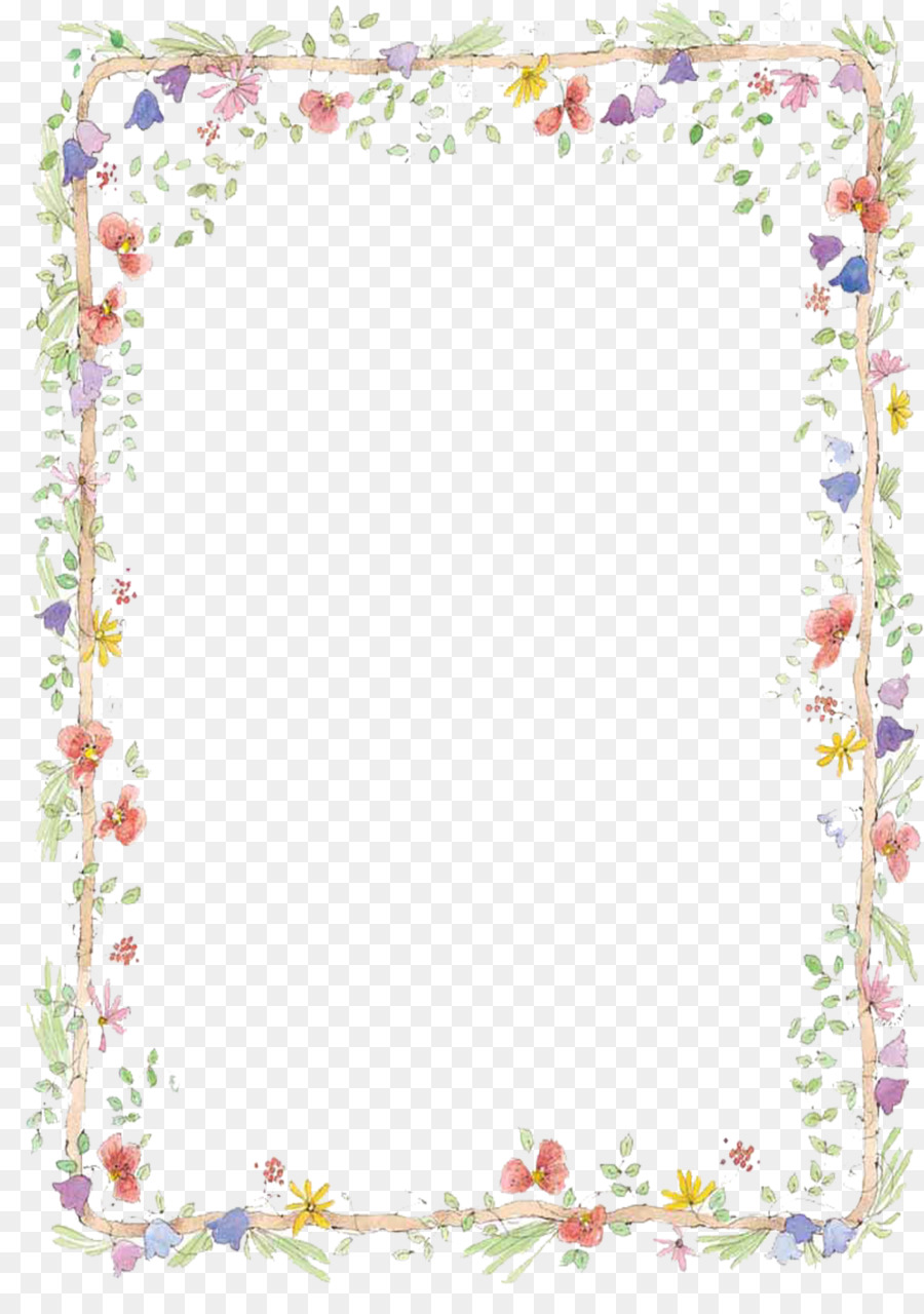 border flowers clip art free to pull hand painted small