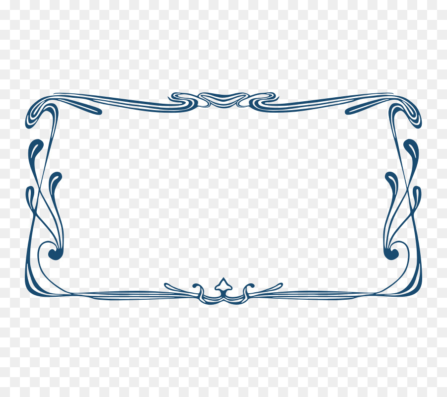 Borders and Frames Art Nouveau Picture frame Clip art - Art Nouveau ...