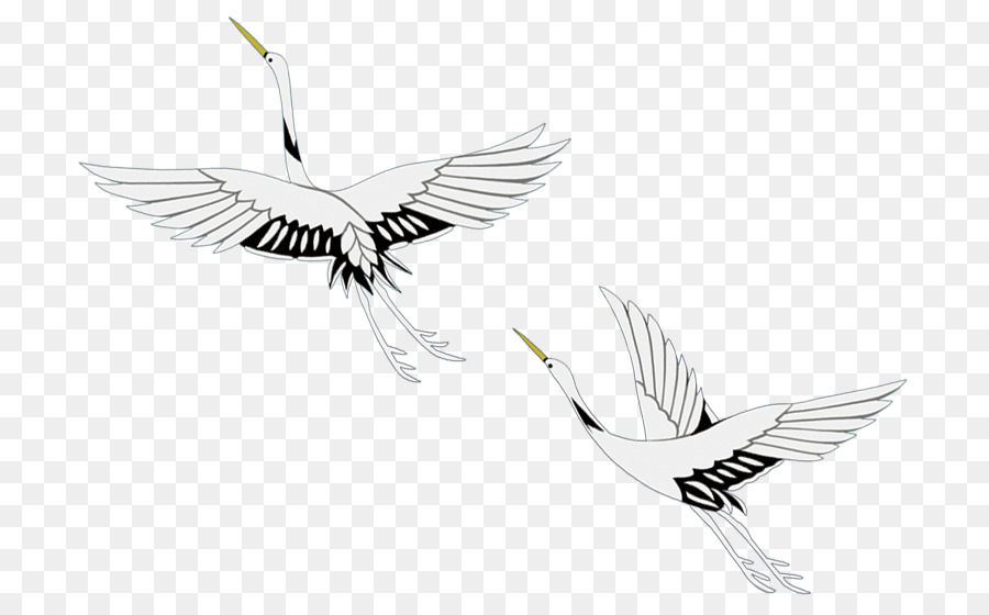 Vinç Kuş Mürekkep Boyama Yıkama Uçan Vinç Png Indir 778557