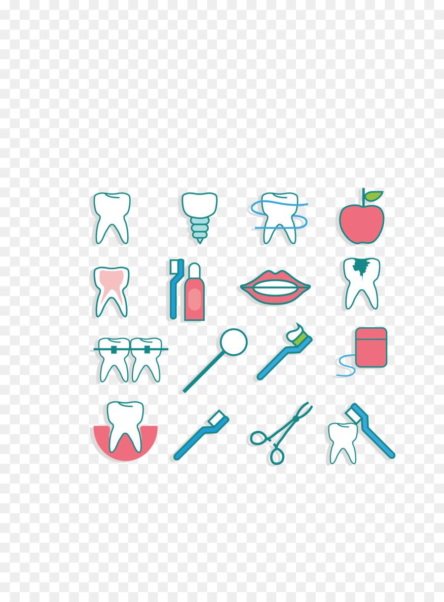 Odontología de la Salud Dental de higiene Oral - Vector de color del ...