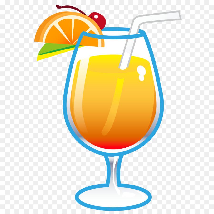 Cocktail Juice Drink Emoji Clip Art Tropical Drinks