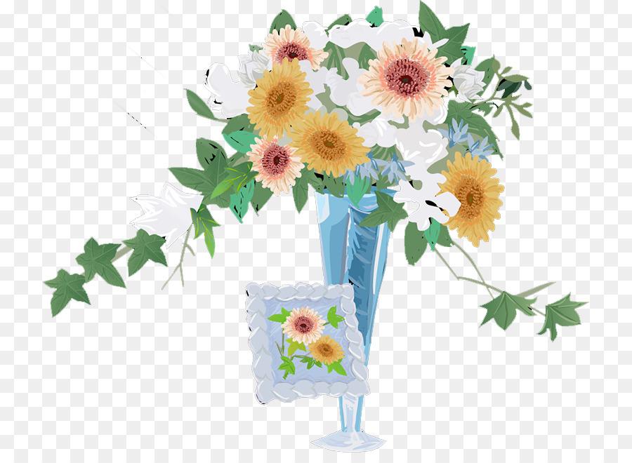 Floral Design Flowerpot Cut Flowers Chrysanthemum Vase Png