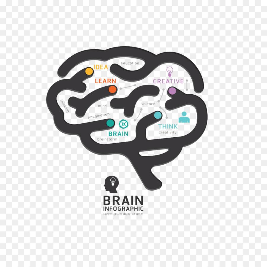 El cerebro humano diseño Gráfico de Diagrama de - cerebro Formatos ...