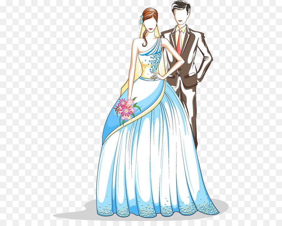 Ehe Hochzeit Brautigam Valentines Tag Gemalt Der Braut Und