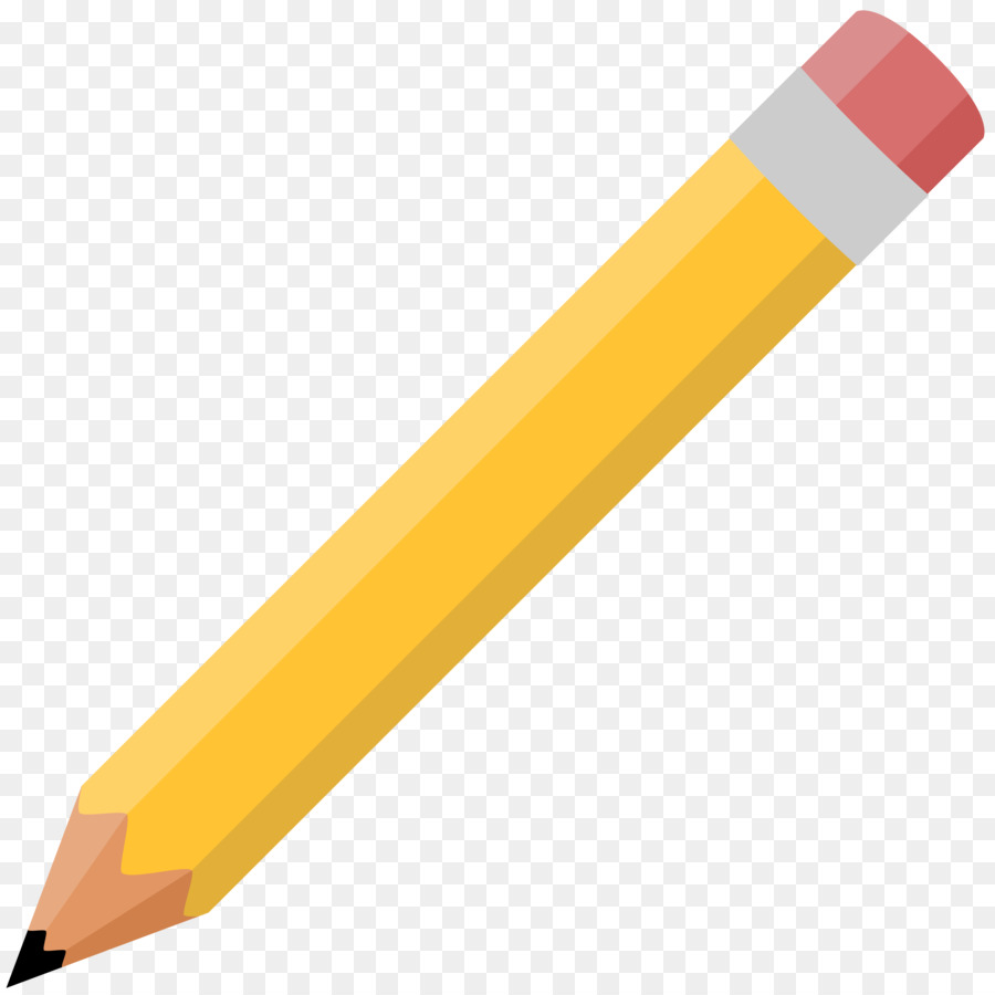Colored pencil Drawing Mechanical pencil Clip art - Yellow ...