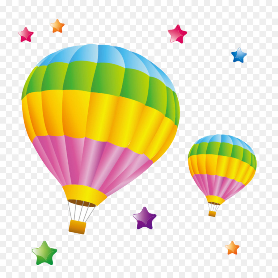 Globos de aire caliente - Color paracaídas Formatos De Archivo De ...