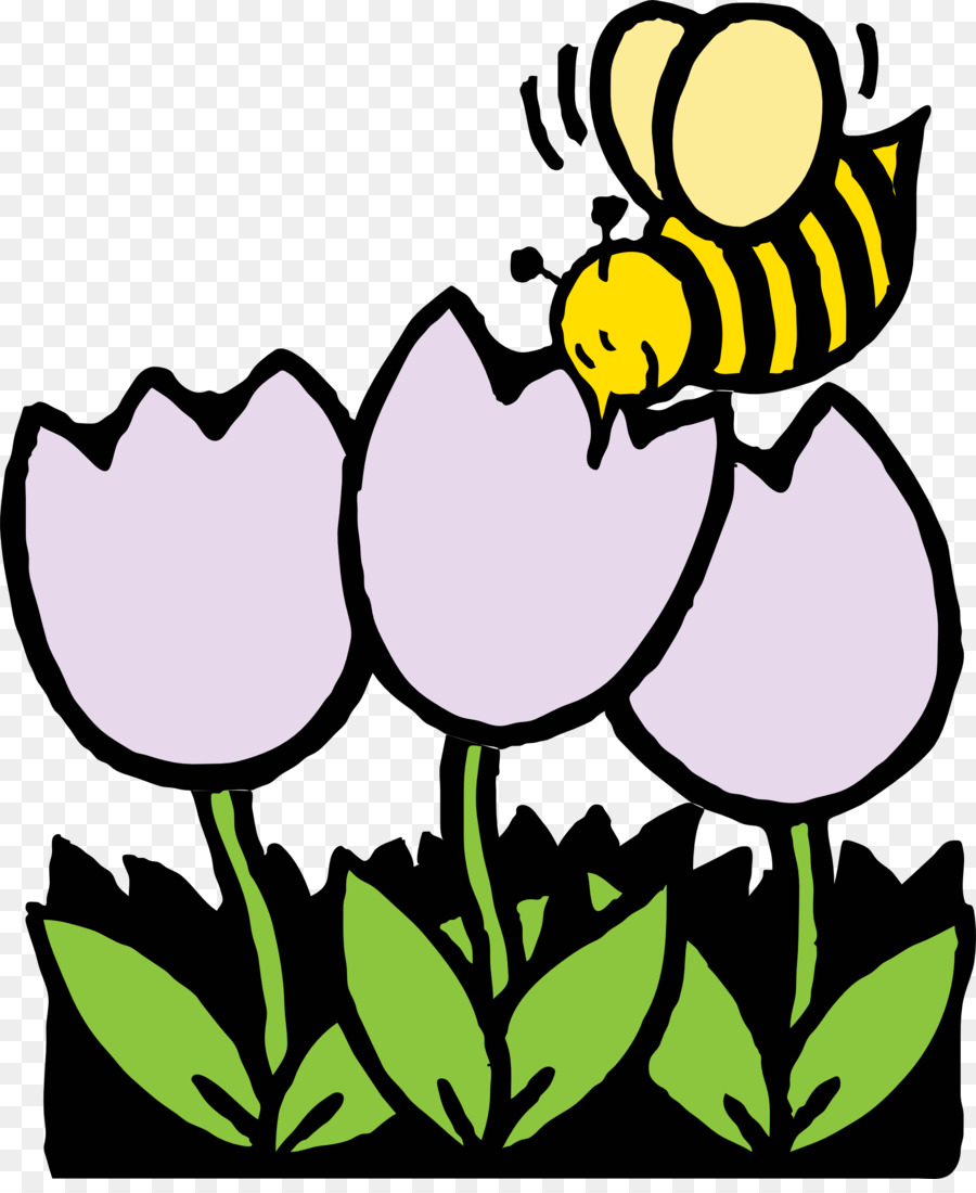 Bee Coloring Book Flower Nectar Clip Art