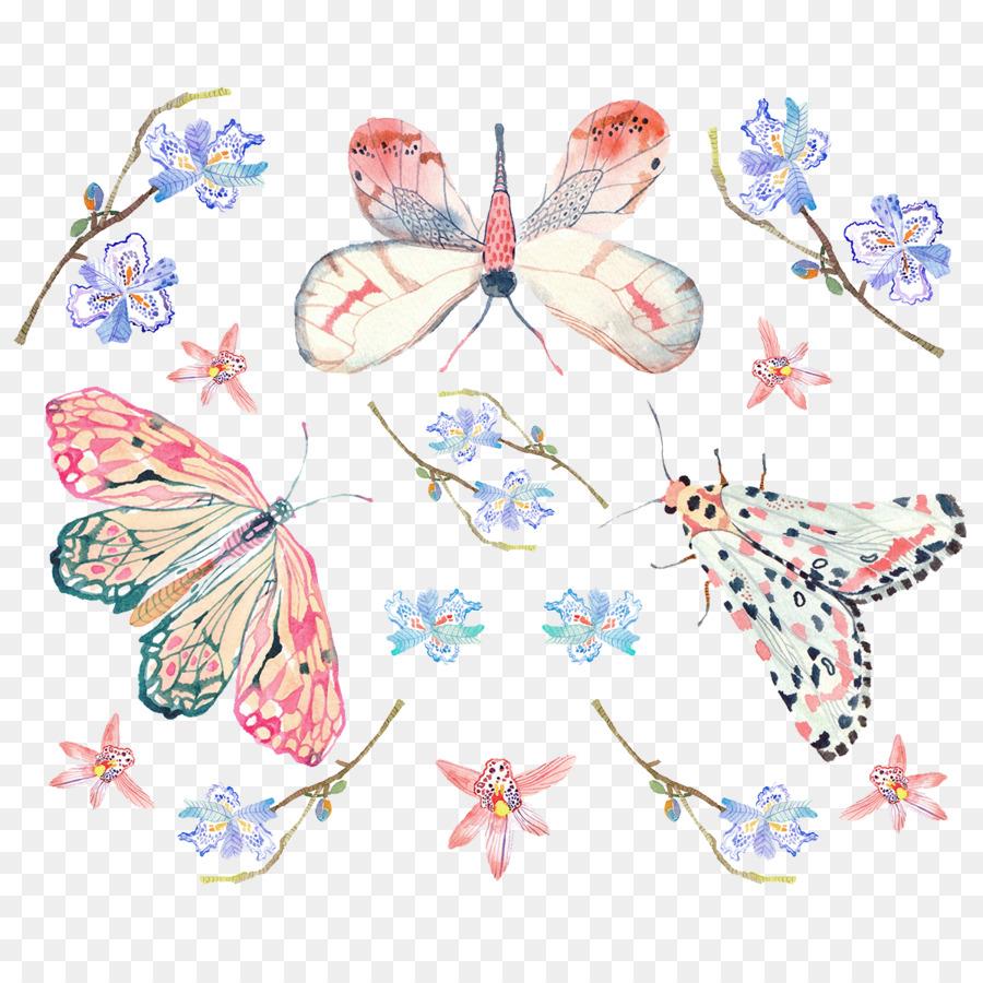 Motivo De Mariposa Patrón Diseño De Mariposas Pintadas De Fondo