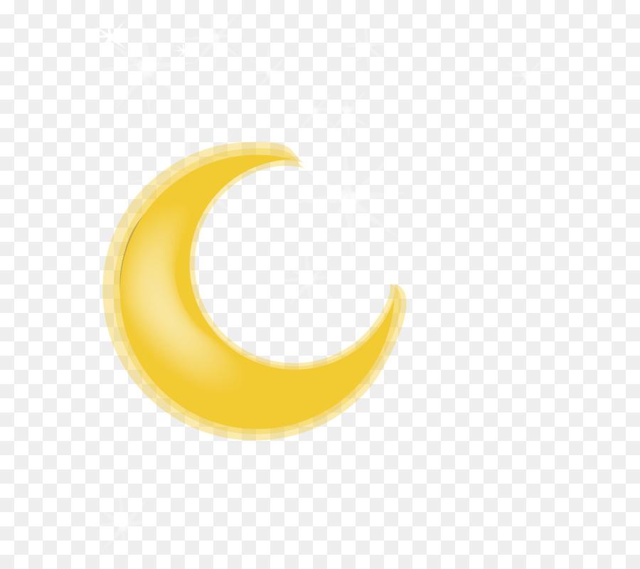 Yellow Wallpaper Cartoon Moon Stars Png Download 650783 Free
