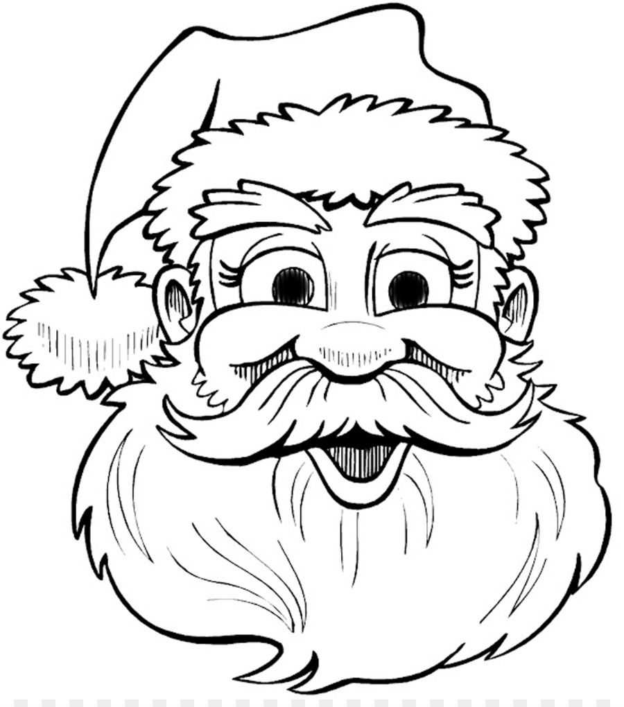 santa claus drawing christmas coloring book clip art santa claus outline