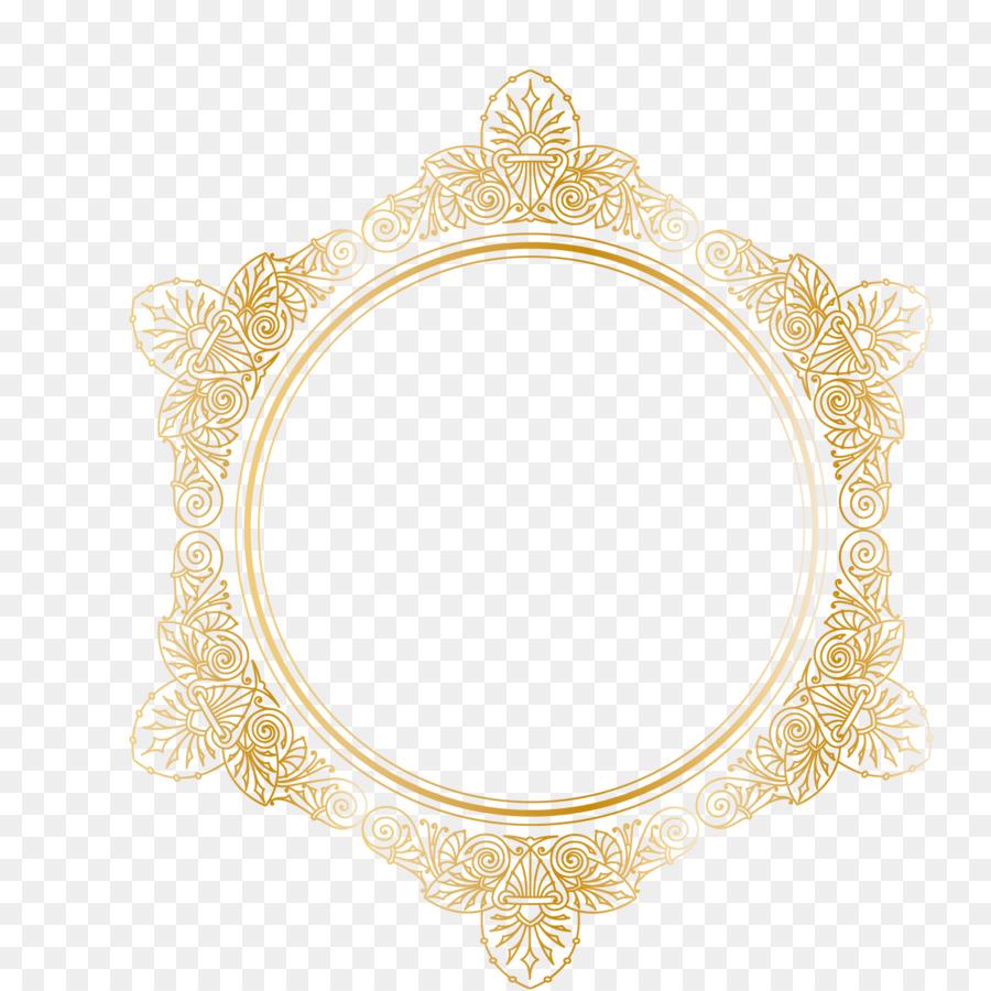 Imágenes prediseñadas - Vector de patrón de oro de la frontera de ...